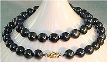 Akoya Black Peacock Pearl Necklace