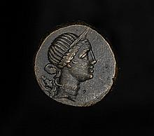 Ancient Greek bronze coin from Pontus 125BC