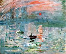 Original Oil by a student of Claude Monet.