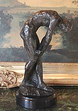 Erotic Nude Male Bronze Sculpture