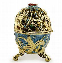 Fleur a L'interieur Faberge Inspired Egg