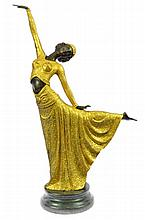 After Chiparus, Art Deco Dancer Bronze Sculpture