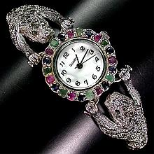 176.53 ct Emerald, Ruby, Sapphire Watch