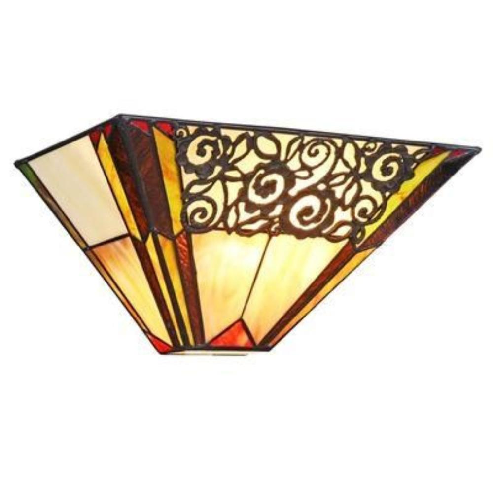 Tiffany Stained Art Glass Sconce