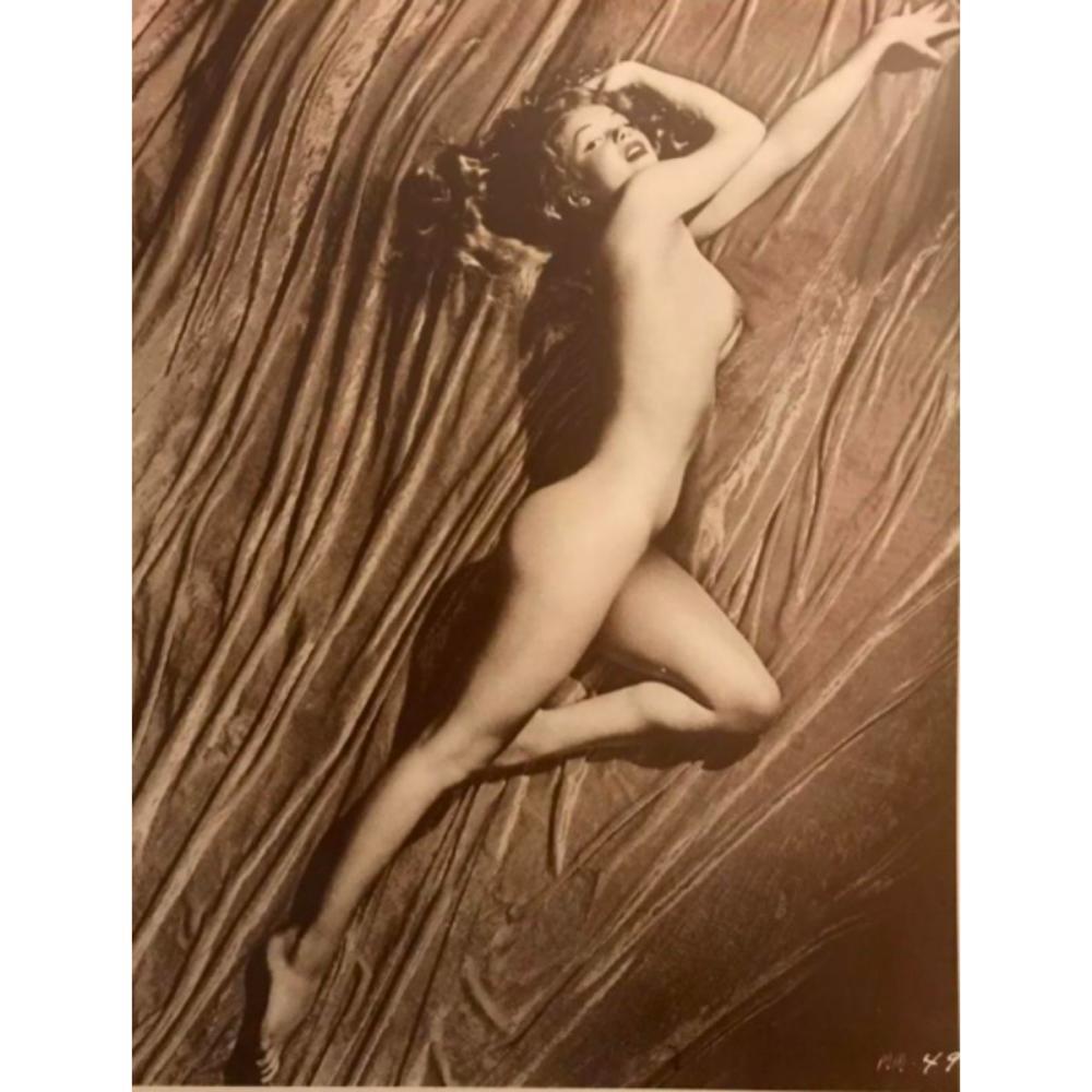 Nude Marilyn Monroe Sepia Photo Print