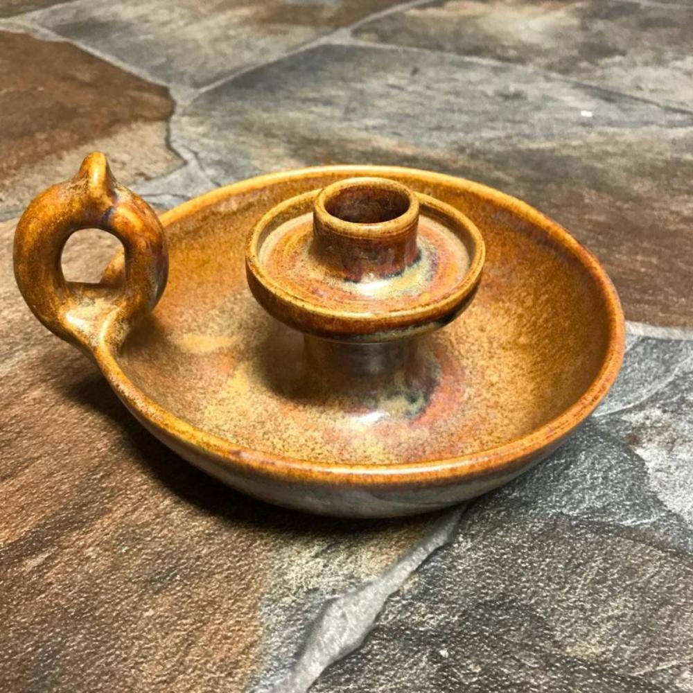 Rare W. J. Gordy Pottery Candlestick