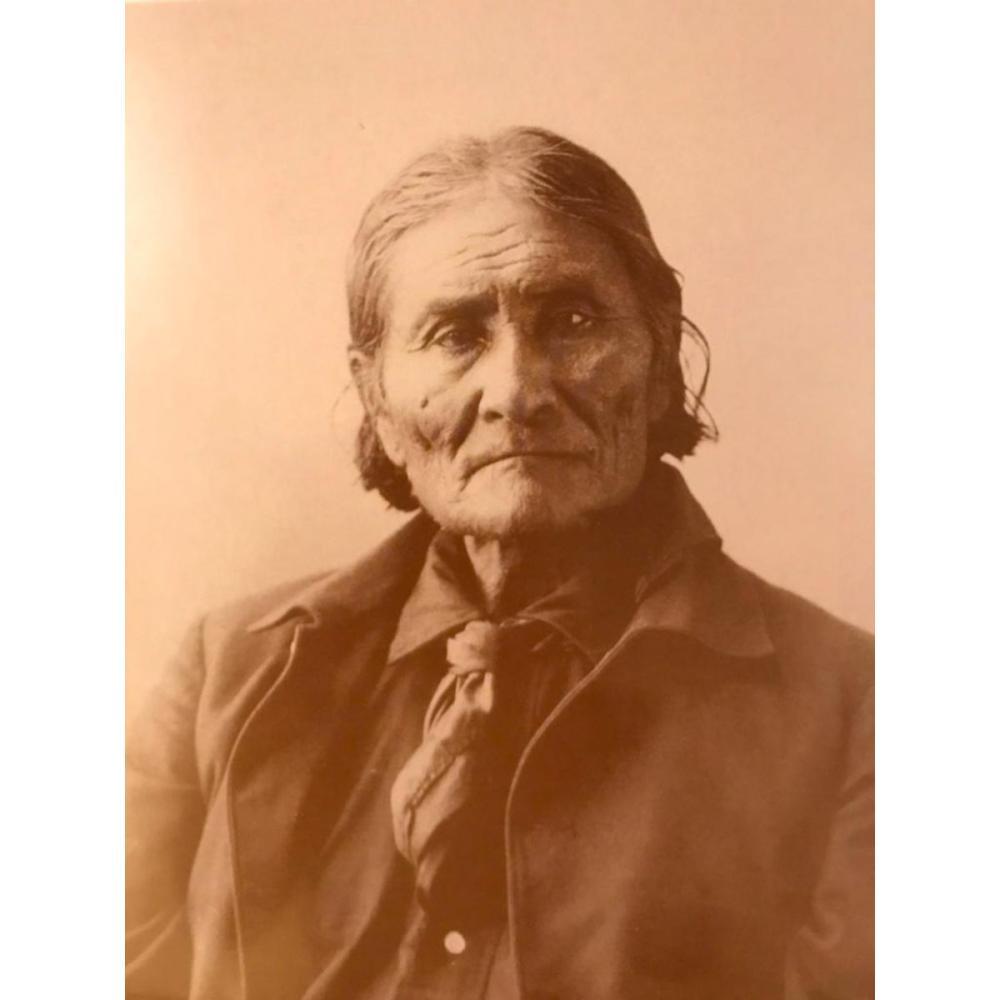 Native American History, Geronimo Sepia Photo Print