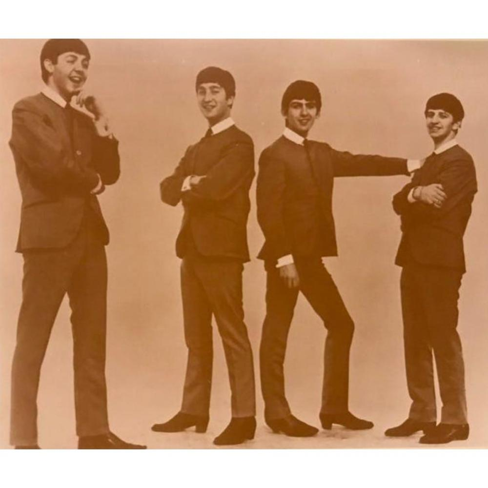 The Beatles Sepia Photo Print
