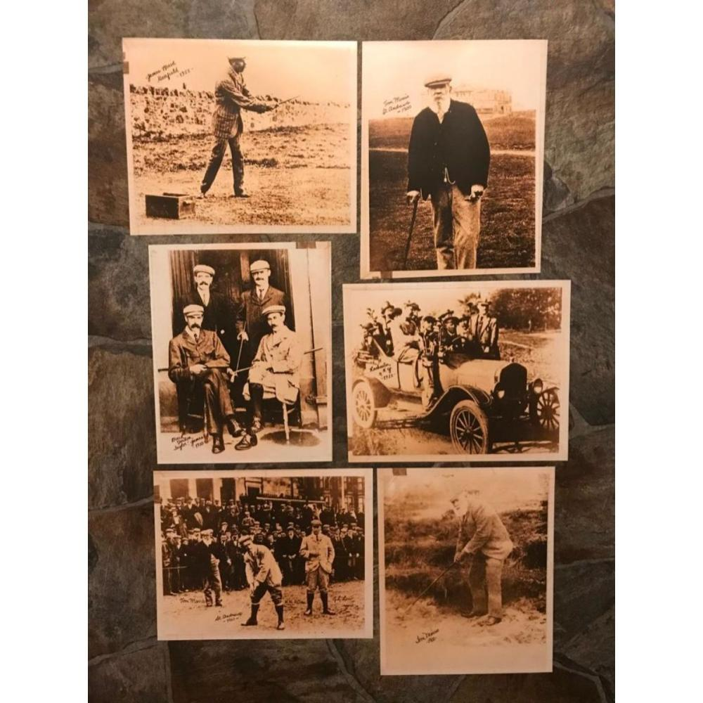 Group of Clubhouse Golfing Photo Prints, Early 1900's Scenes