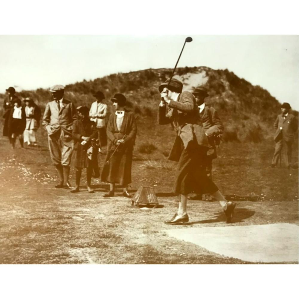Women's Golfing Championship Sepia Photo Print