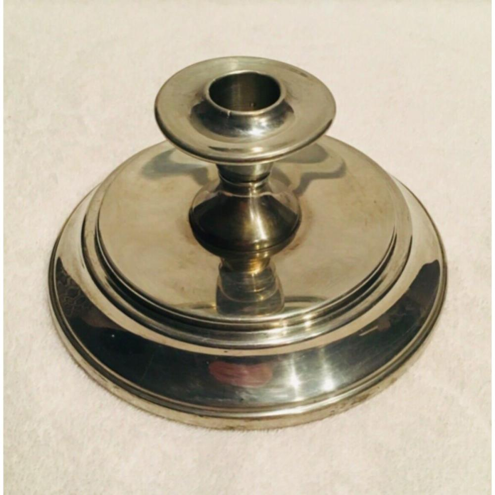 Vintage Cartier Pewter Weighted Candlestick Holder