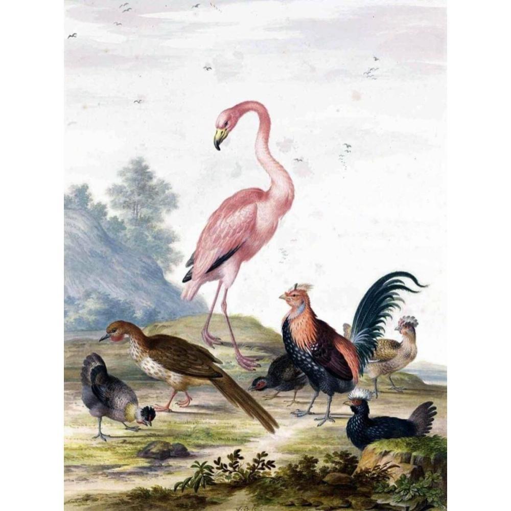 Flamingo Birds Ceramic Art Tile