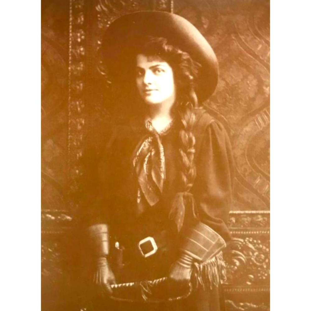 Mabel Dixey Western Cowgirl Photo Print