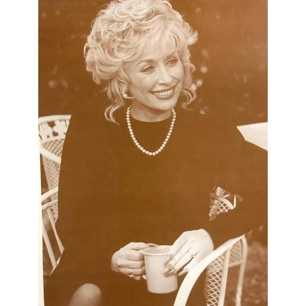 Dolly Parton Sepia Photo Print