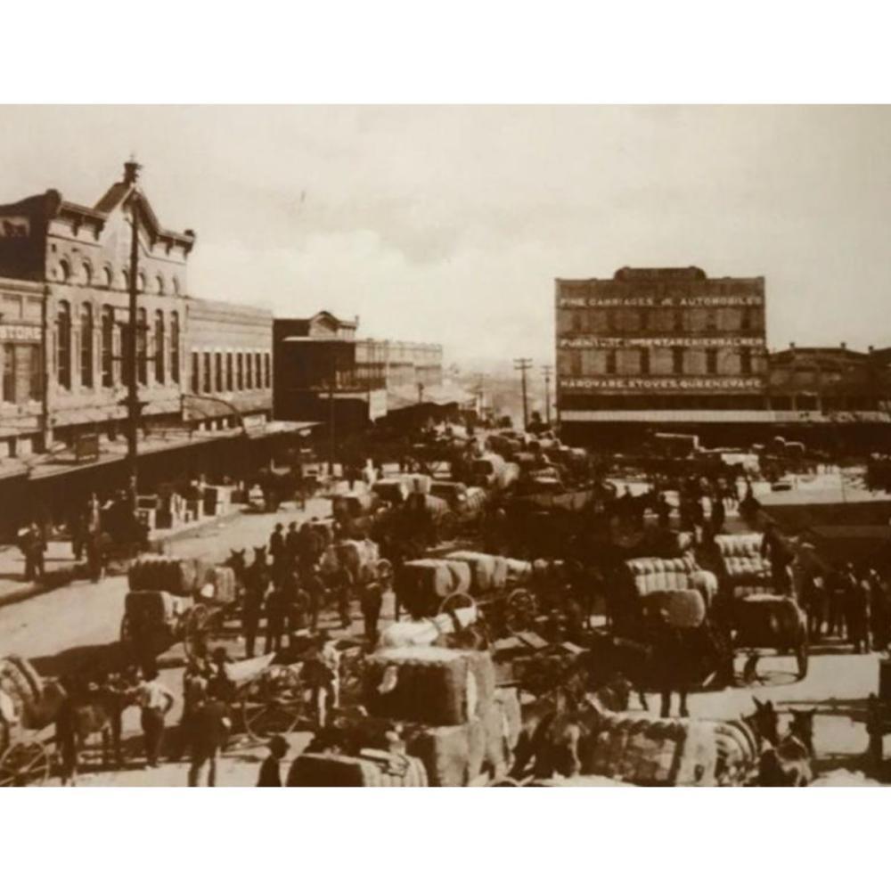 19thc Cotton Market, Gainesville Texas Photo Print