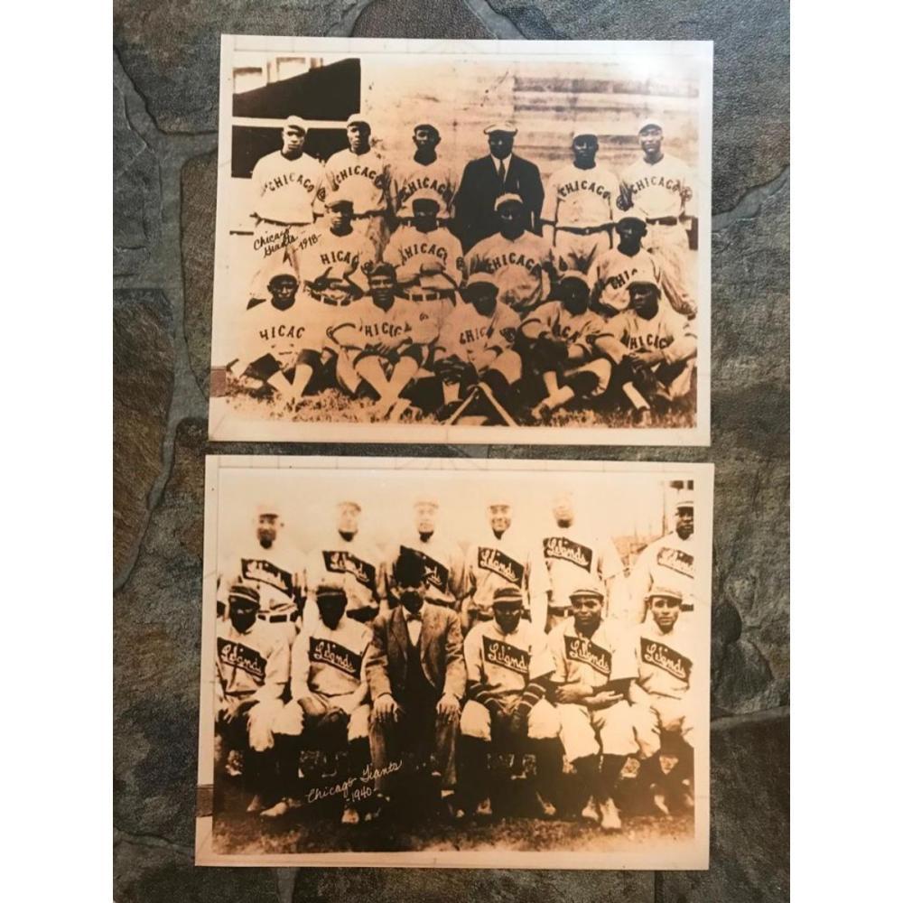 African American History, Chicago Baseball Photo Prints