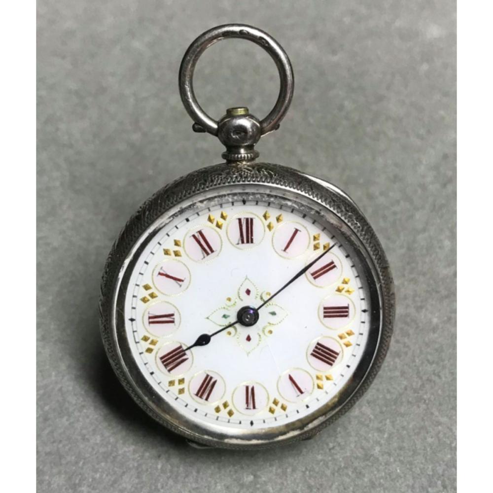 Edwardian Ladies 935 Silver Fob Pocketwatch