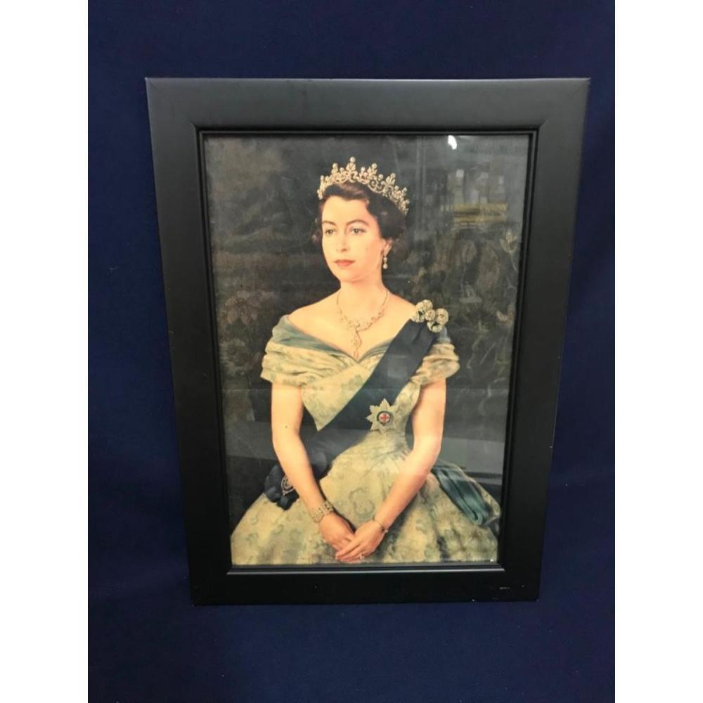 1950's Queen Elizabeth Chromolithograph Print