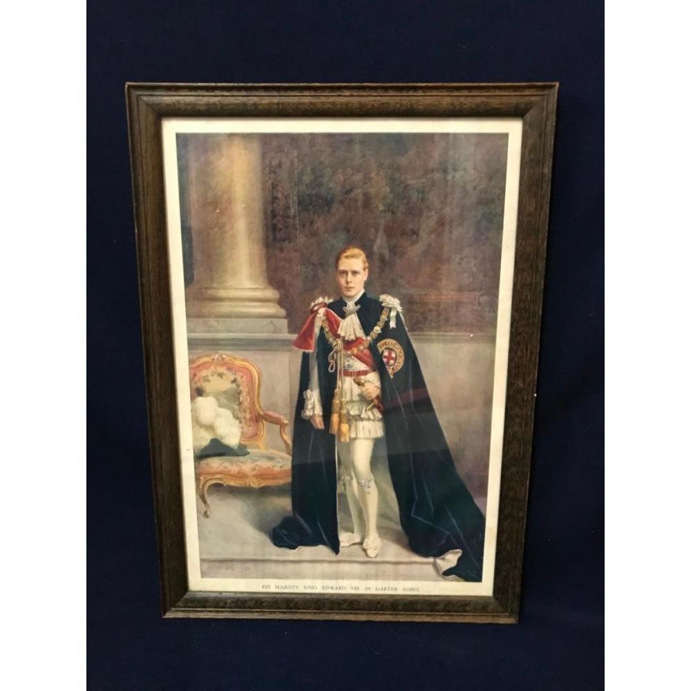 1936 King Edward Framed Chromolithograph