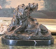 Magnificent Bronze Sculpture Lion & Lioness