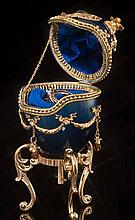 Faberge Inspired Royal Blue Egg
