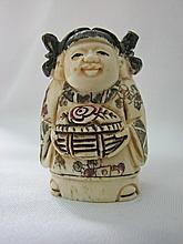 Japanese Ox-Bone Carved Figure