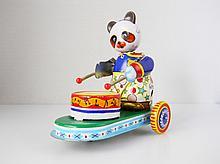Mechanical Panda Drummer Tin Toy