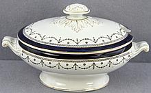 Antique Empire-Style Ceramic Covered Tureen