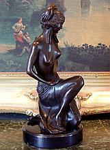 Bronze Sculpture Roaring 20's Nude Showgirl