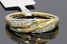 .18 Ct Women's Yellow Gold Finish Diamond Ring.