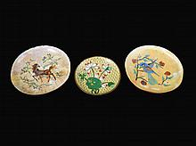 Set of Three Asian Cloisonne Plates