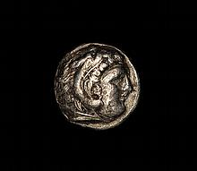 Ancient Greek silver coin Alexander the Great