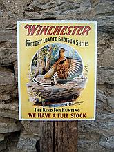 Retro Style Winchester Guns Metal Sign