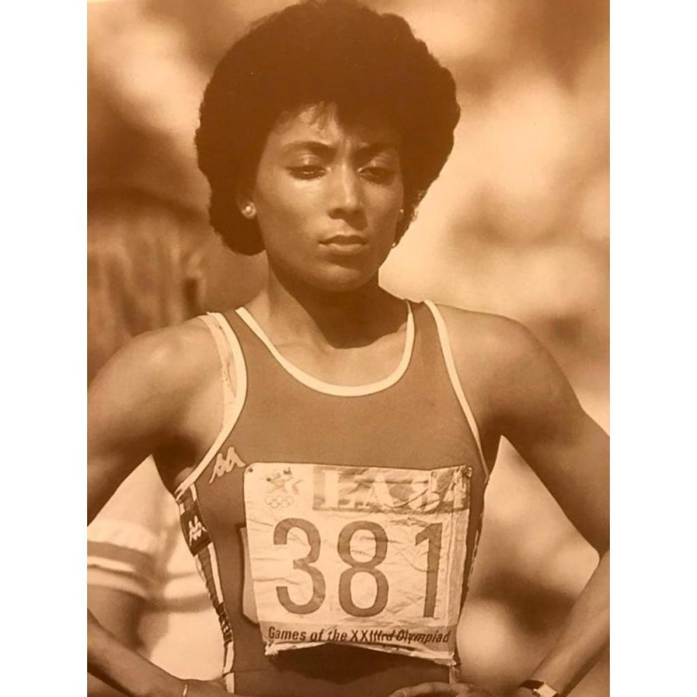 Vintage Olympics Photo Print, Florence Griffith Joyner