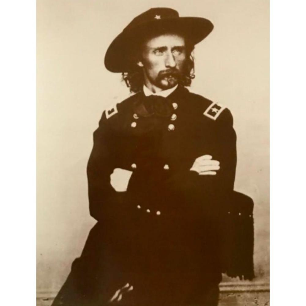 George Armstrong Custer Sepia Photo Print