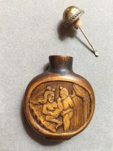 Antique Asian Erotic Scenes Snuff Bottle