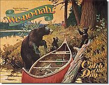 We-no-nah Canoe Reproduction Metal Sign