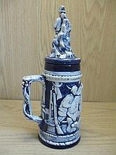 Large Ceramic Beer Stein & Lid