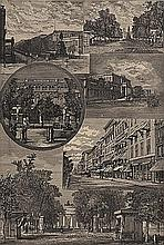 ORIGINAL Antique PRINT scene- VIEWS IN BERLIN