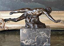 Erotic Male Nude Swimmer Bronze Sculpture