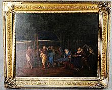 Oil on Canvas of a Procession