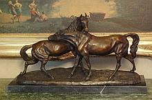 Huge Bronze Sculpture Horse Play