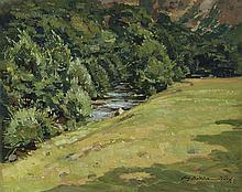 Summer Landscape OOB, Signed