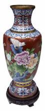 Large Baluster Form Cloisonne Vase, 26