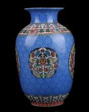 Delicate Chinese Famille Rose Porcelain Handwork Flower Vase