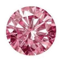 11ct Round Brilliant Cut Pink BIANCO Diamond