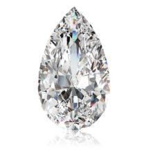 10.21cts Pear Cut Bianco Diamond 6AAAAAA Loose Gemstone