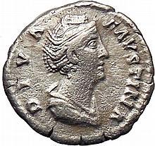 Roman Imperial Silver Denarius Faustina I