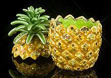 Stunning Jeweled Pineapple Trinket Box