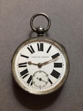 1893 Sterling Silver Key Wind Pocket Watch